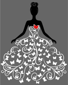创意婚纱矢量设计素材