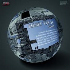 科技球体海报