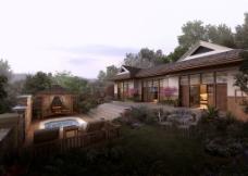 山中别墅环境景观设计图片