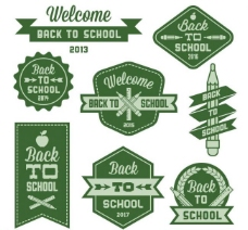 学校开学标签图片