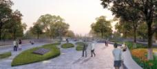 公园休闲环境广告设计图片