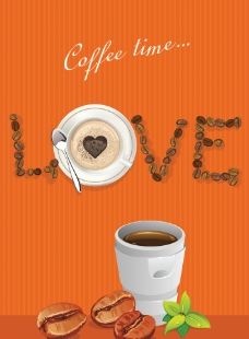 咖啡 爱心图片