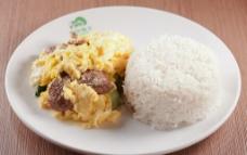 滑蛋牛肉饭图片