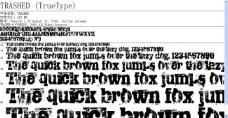 碎屑式的 TRASHED TrueType 字体