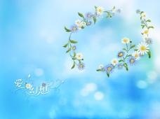 甜美花朵背景