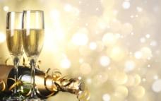 圣诞节香槟酒图片