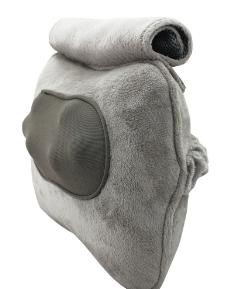 毛绒灰色质感按摩枕图片