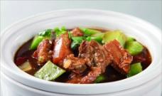 焖锅土猪肉图片