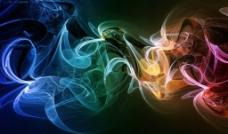 高清幻彩轻烟光影图片