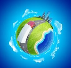 绿色环保地球图片