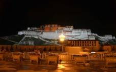 布达拉宫夜色图片