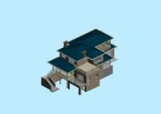 独栋别墅3D模型图片