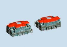双拼别墅3D模型图片