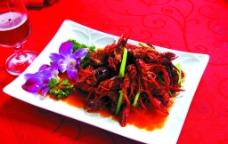 炒龙虾图片