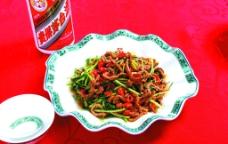 农家芹菜炒肉丝图片