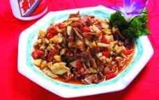 包菜炒鸡胗图片