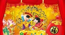 春节背景海报模板图片