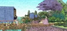 滨河景观效果图图片