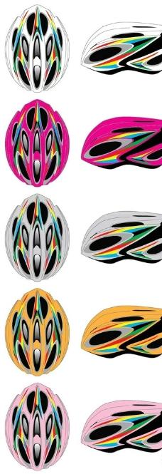 自行车头盔设计矢量图图片