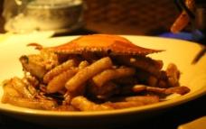蟹炒年糕图片