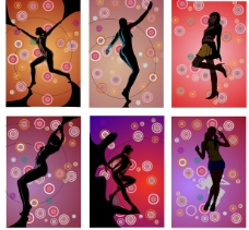超酷动感舞蹈女孩矢量素材