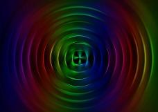 多彩圆形波纹图片