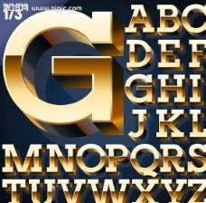 金色字母设计图片