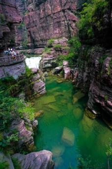 云台山红石峡图片