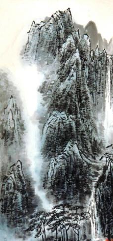 高山云瀑图片