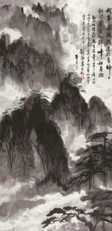 黄山松云图片