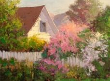 风景油画绘画图片