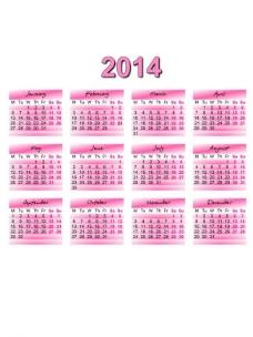 2014年日历模板图片