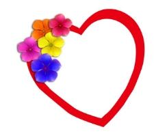 红色花朵心形