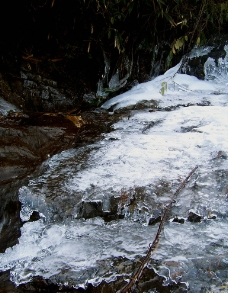 石头结冰图片