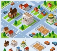 卡通城市设计图片