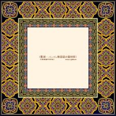 韩国花纹背景图案边框素材