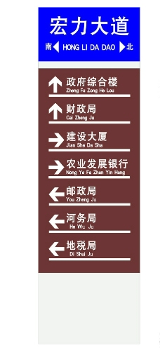 路名指示牌图片