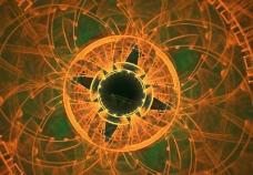 抽象动态光晕视频背景