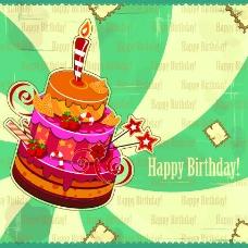 蛋糕生日快乐