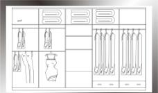 衣柜立面图图片