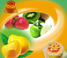 蛋糕水果图片