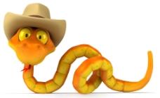 3d黄蛇图片