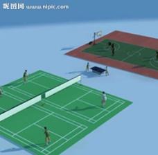 球场 篮球场 动画图片