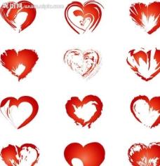 红心设计图片