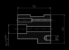 CAD中心镗孔零件