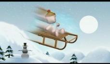 卡通滑雪视频素材图片