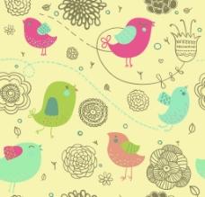 花鸟底纹图片