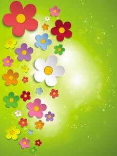 立体花朵背景免费下载