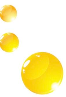 矢量橙色圆形水珠图片