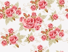 浪漫玫瑰矢量素材